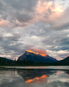 Friday Sunset at Vermillion Lakes (Aug 4)