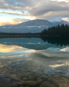 Friday Sunrise at Jasper Park Lodge (Aug 4)