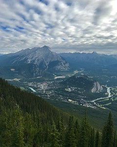 The town of Banff from the top of Sulphur Mountain (Aug 5)