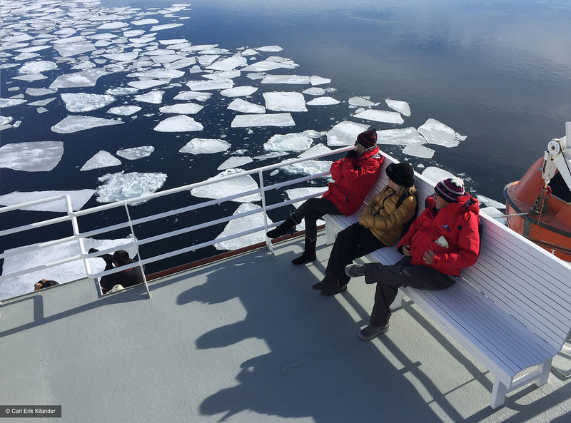 Svalbard, guests on deck of National Geographic Explorer
