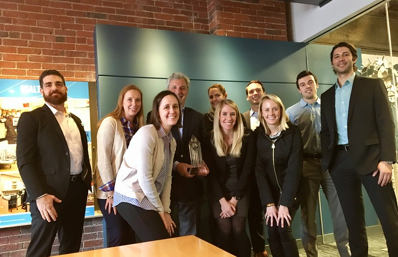 Traveling Chapter of the Year Award at Young Leader's Lunch at Margulies Perruzzi Architects