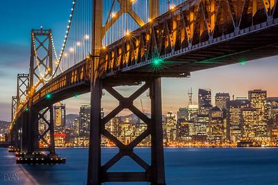 Bay Bridge, San Francisco, Sunset, Treasure Island