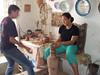 Adriana making pottery