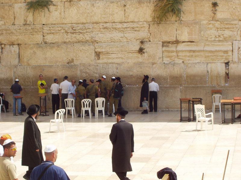 Men's section; Wailing Wall