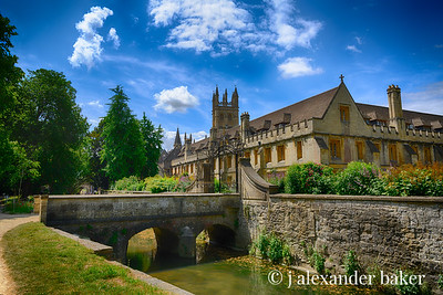 River Cherwell, Magdalen College Library