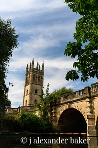 River Cherwell, Magdalen College Tower, Oxford University