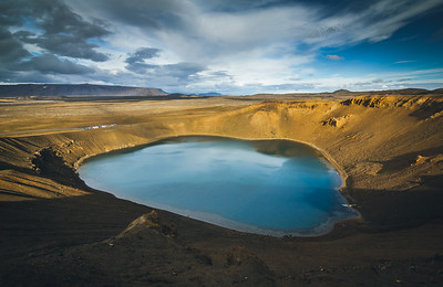 Víti crater lagoon