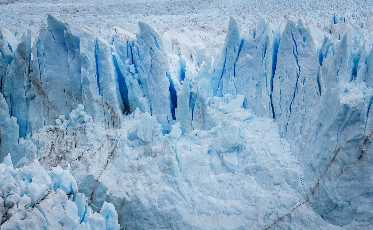Detail of the Perito Moreno glacier