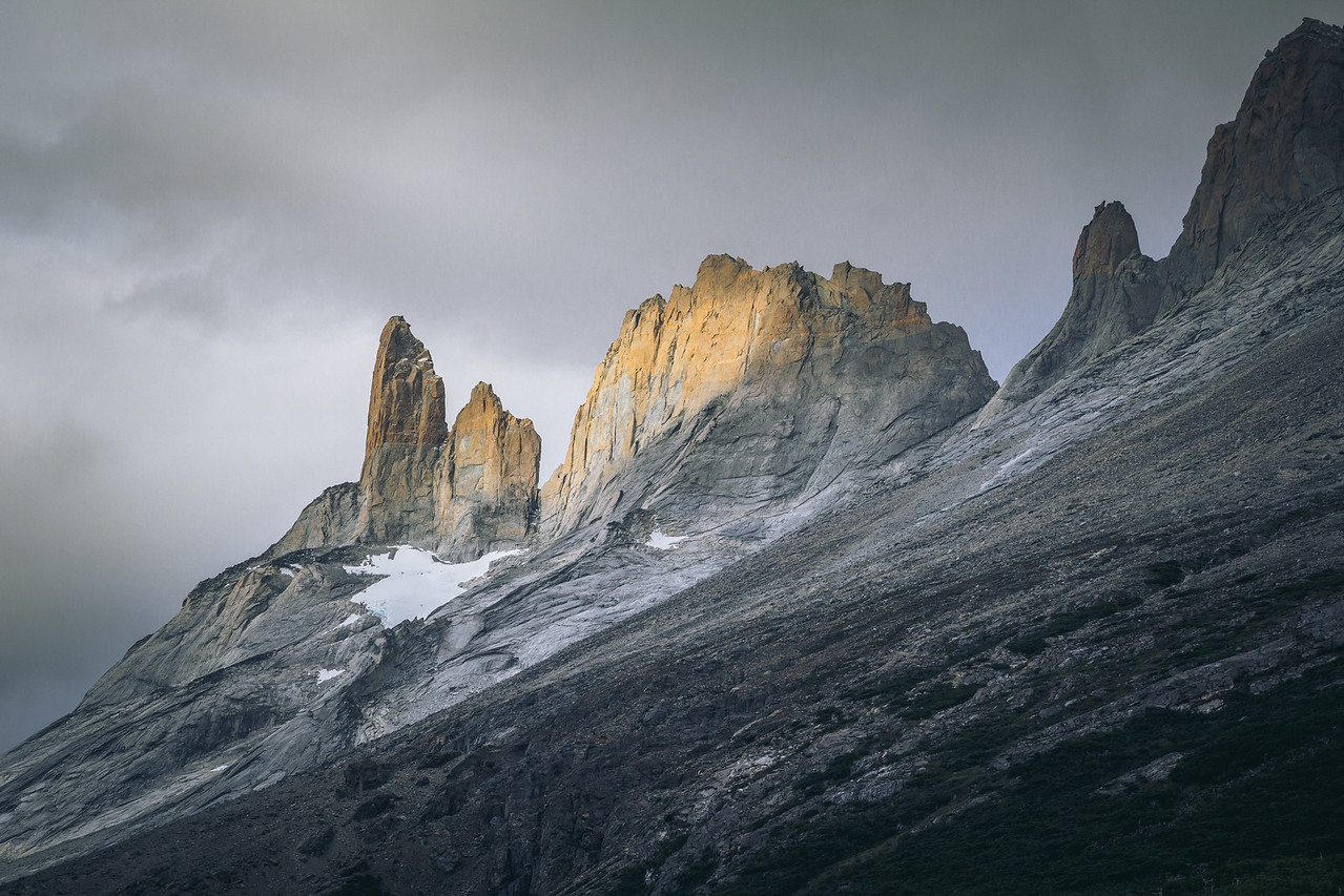 Torres Del Paine from Valle Francés