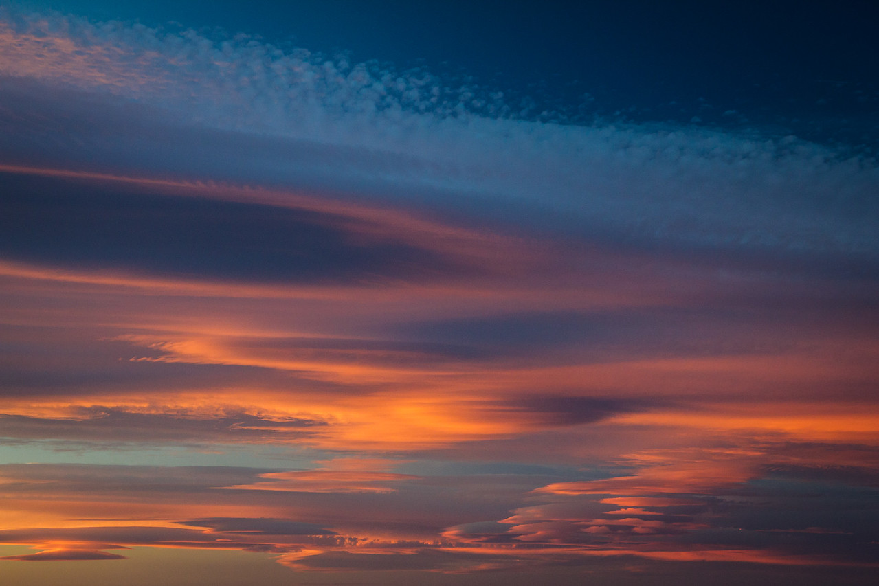 Sky over the Nibareddu accommodation