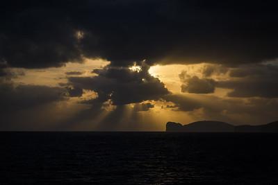 Magic sky over the Capo Caccia