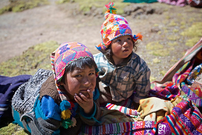 Children on the Andes
