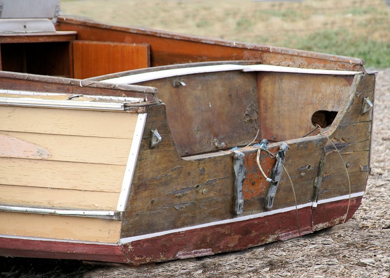 SONY DSC - a weathered wooden boat tragedy