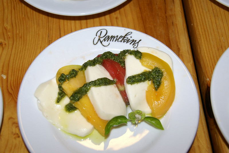 SONY DSC - heirloom tomato caprese salad