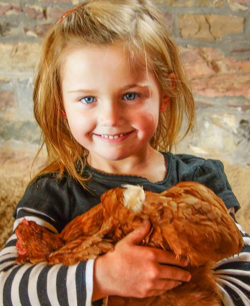 So proud of her chicken