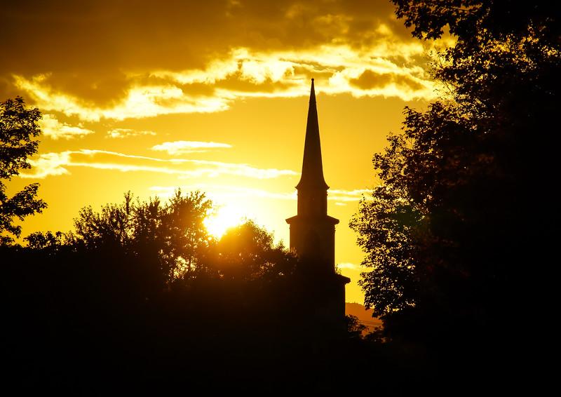 Sunset  in Brandon Vermont
