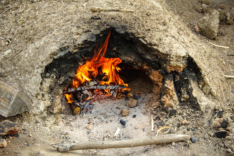 Bread fire at Fort Ticondaroga