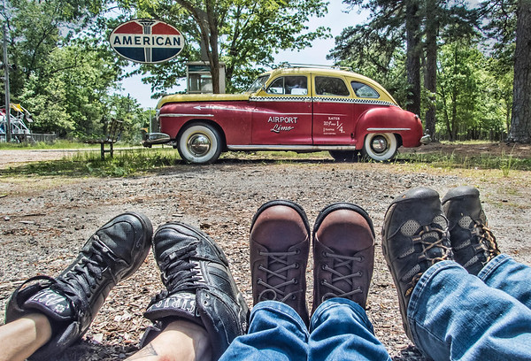 Feet With Friends At Steel Wheels