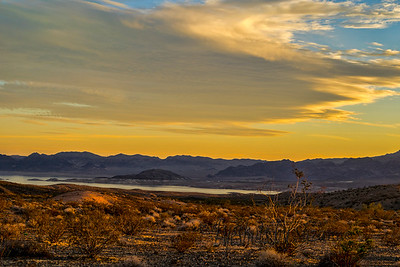 Sunset and Lake Mead