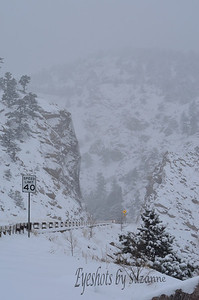 Boulder Canyon during Rocky, the blizzard