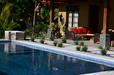 I love sitting outdoors here! The beautiful patio and pool of our friend's home in Atenas, Costa Rica