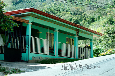 One of many colorful homes in the hills outside Aenas, Costa Rica