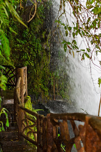 The  Magia Blanca waterfall viewing platform -  you can actually take a photo under the waterfall.