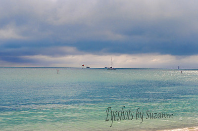 Clouds starting to Form Sombrero Beach, Marathon, Florida, the Keys January 1, 2014