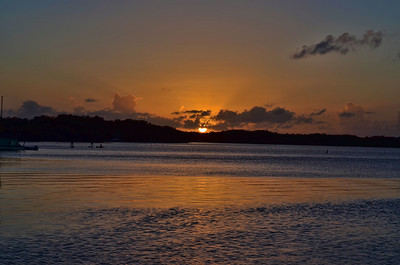 Sunset at Islamorada, Florida January 1, 2014