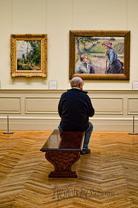 Day at the MET  This gentleman is clearly enjoying the art without the assistance of a cell phone