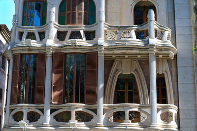 The beautiful architecture of Gaudi!  The Gran Hotel in Palma is one of the most important examples of Catalan Art Nouveau style.