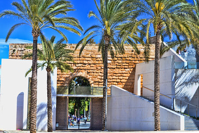 Es Baluard,the museum of modern and contemporary art of Palma.  A beautiful building built around a former military fortress dating back to the 16th century, and was part of the Renaissance wall that surrounded the city