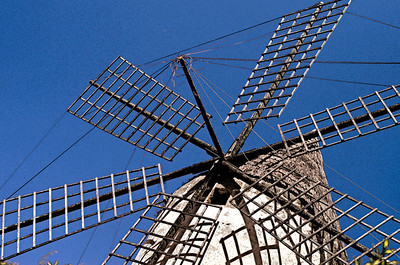 The 'traditional' wooden-vaned windmills, some dating back to the 17th century.  An icon of Spain and Mallorca's heritage.