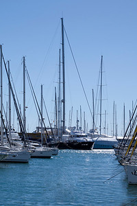 The beautiful Port of Palma with many sailboats