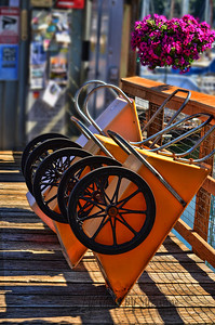 The Cart I wasn't sure what these were for, until I watched someone load it up with stuff and wheel it to their boat.  Sorry, I was raised in a land-locked state!  Pretty nifty little carts...and colorful!