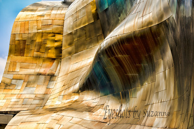 EMP Museum  A few years ago when I bought my Dell Computer a view similar photo was a desktop option on the Computer.  I had no idea it was part of the architecture of the EMP in Seattle.  I ran across it while I was on the internet researching out trip to Seattle in 2012.  Now it all makes sense -  the EMP was founded by Microsoft co-founder Paul Allen in 2000.  Wealth has it advantages!