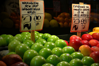 An apple a day...ore more!  Taken at Pike Place Market, Seattle, WA