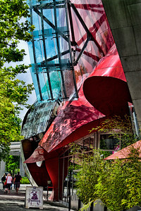 RED One more colorful side of EMP architecture!  It's hard to believe this is all ONE Building. Frank Gehry was the design architect.  If you are dying to visit after all the photos I have posted, see below.  EMP Museum www.empmuseum.org/