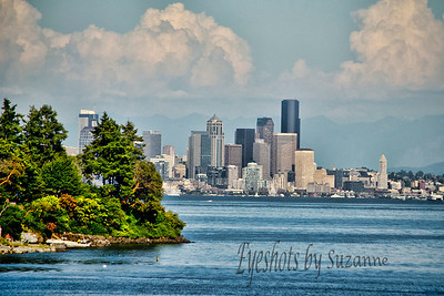 Leaving Bainbridge Island - the beautiful Seattle skyline