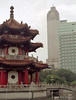 taiwan_1997_0013<br /> <br /> A pagoda in the Taipei New Park. The Topview building is in the background.