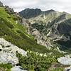 Vysoké Tatry - výhled z Predné Solisko na vrcholky Satan a Patria