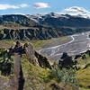 Pórsmörk Valahnúkur - Pohled na ledovec Eyjafjallajökull