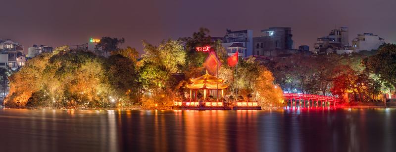 """Most """"ranního slunečního svitu"""" (Cầu Thê Húc)"""