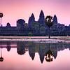 Chrám Angkor Wat při svítání