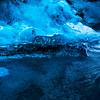 Crystal Ice Cave in glacier Vatnajökull.