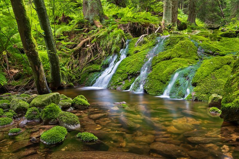 Vodopády na Černohorském potoce