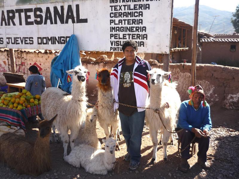 Con unas llamitas y mi tio perdido....<br /> <br /> With some llamas and my lost uncle....