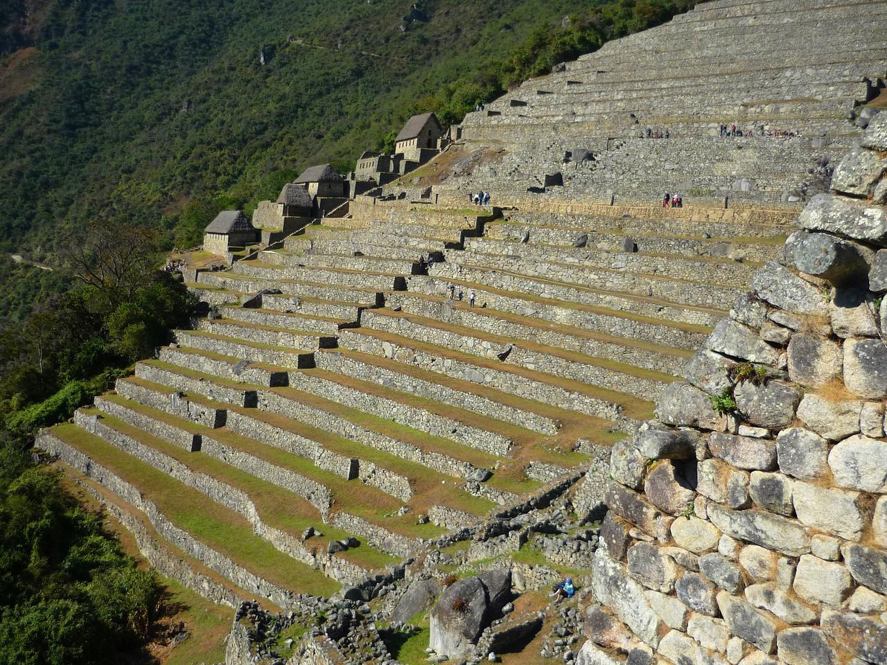 En esta parte los incas sembraban sus productos.