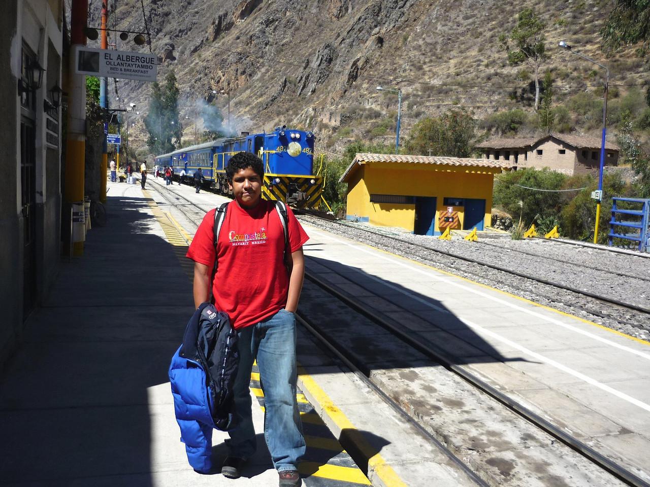 En la estacion de trenes de Ollantaytambo