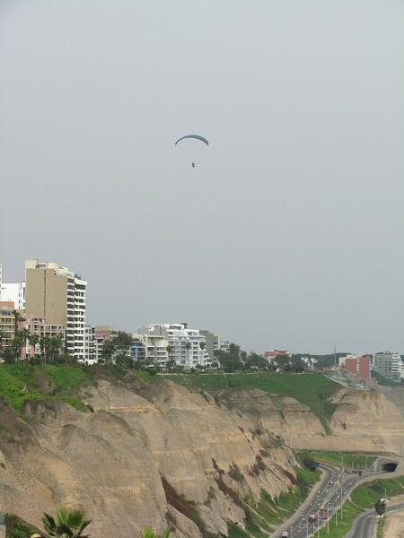 Paragliding near the coast.<br /> <br /> Paseando en parapente cerca de la costa.